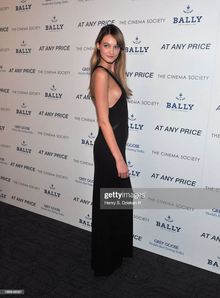 Andie Arthur attends the Cinema Society & Bally screening of Sony Pictures Classics' 'At Any Price' at Landmark's Sunshine Cinema on April 18, 2013 in New York City.