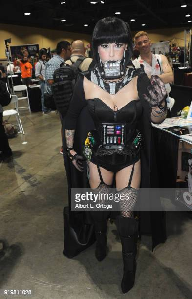 Andie Cardenas as Darth Vader attends day 1 of the 8th Annual Long Beach Comic Expo held at Long Beach Convention Center on February 17 2018 in Long...
