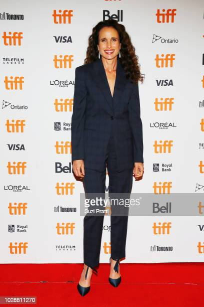 Andie MacDowel attends the 'Donnybrook' premiere 2018 Toronto International Film Festival at Winter Garden Theatre on September 7 2018 in Toronto...