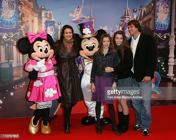 Andie MacDowell and Family during Disneyland Paris's 15th Anniversary Celebrations - Dinner Arrivals at DisneyLand Paris in Marne-La-Vallee / Paris,...