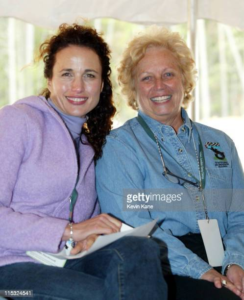 Andie MacDowell and Lynda Petty during Paul Newman Andie MacDowell Petty Family Kick Off Going Green Celebration For Victory Junction Gang Camp at...