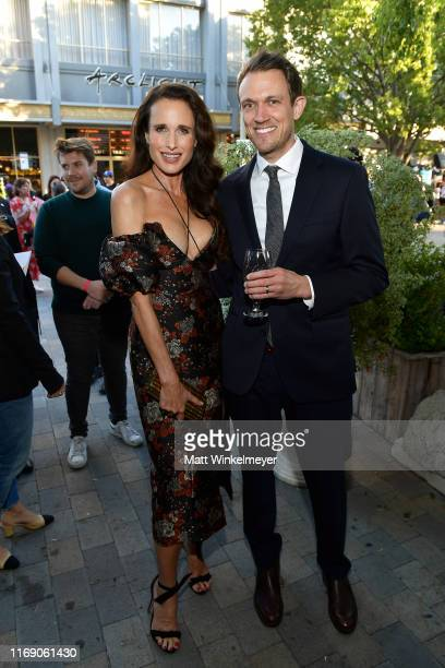 Andie MacDowell and Matt BettinelliOlpin attend the LA Screening Of Fox Searchlight's Ready Or Not at ArcLight Culver City on August 19 2019 in...