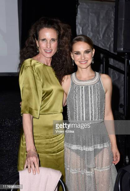 Andie MacDowell and Natalie Portman attend LA Dance Project's 2019 Fundraising Gala on October 19 2019 in Los Angeles California
