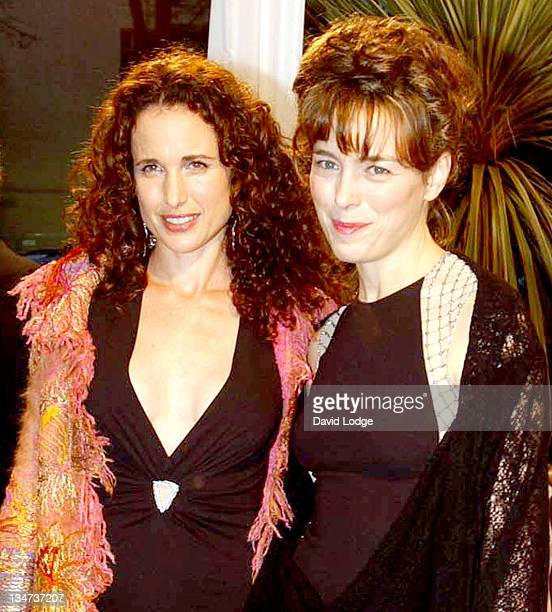 Andie MacDowell and Olivia Williams during The Irish Film and Television Awards 2004 Arrivals at The Burlington Hotel in Dublin Ireland