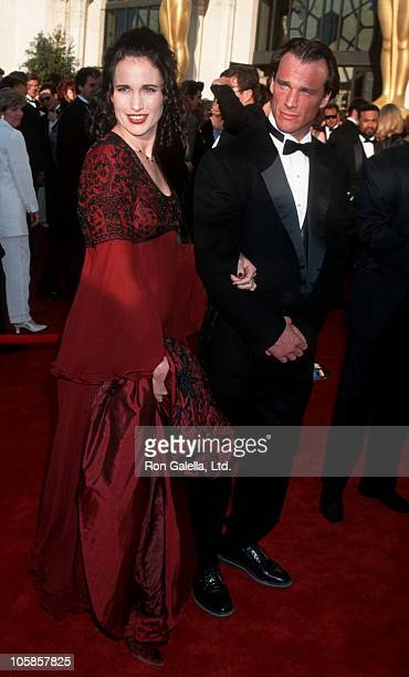 Andie MacDowell and Paul Qualley during The 67th Annual Academy Awards Arrivals at Shrine Auditorium in Los Angeles California United States