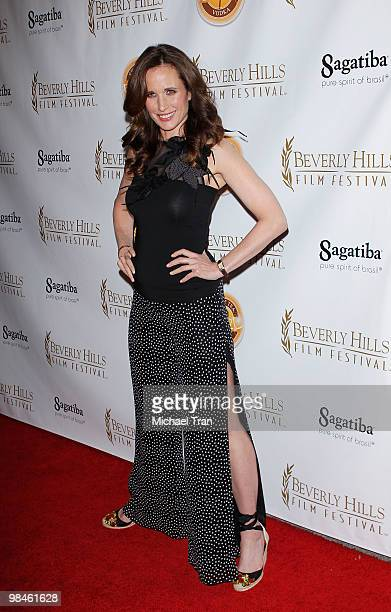 Andie MacDowell arrives at opening night of the 10th Annual International Beverly Hills Film Festival at Clarity Theater on April 14 2010 in Beverly...