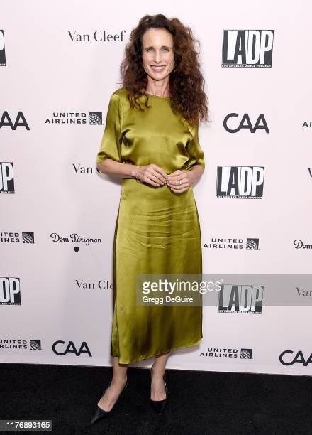 Andie MacDowell arrives at the LA Dance Project Annual Gala at Hauser Wirth on October 19 2019 in Los Angeles California