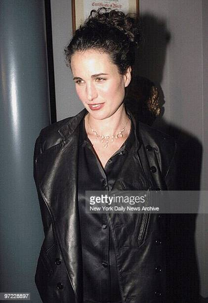 Andie MacDowell arrives for the premiere of 'Unstrung Heroes'at the Walter Reade Theater She stars in the movie