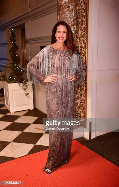 Andie MacDowell arrives to the L'OrŽal Paris Women of Worth Celebration at The Pierre Hotel on December 5 2018 in New York City