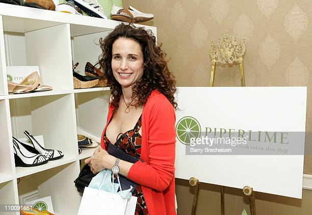 Andie MacDowell at piperlime during The 2007 Luxury Lounge Presents Marie Claire Fashion Closet Day 1 at Four Seasons in Beverly Hills California...
