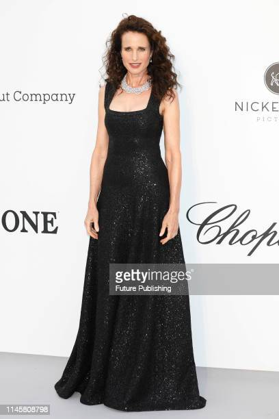 Andie MacDowell at the amfAR Cannes Gala 2019 at Hotel du CapEdenRoc on May 23 2019 in Cap d'Antibes France