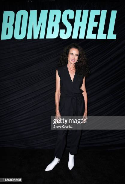 "Andie MacDowell attends a special screening of Lionsgate's ""Bombshell"" at Pacific Design Center on October 13, 2019 in West Hollywood, California."