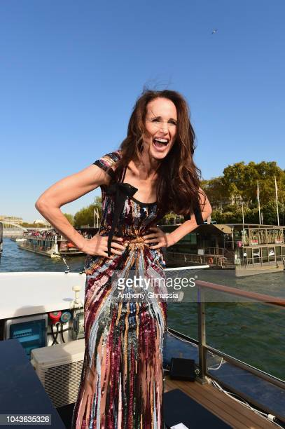 Andie MacDowell attends Le Defile L'Oreal Paris as part of Paris Fashion Week Womenswear Spring/Summer 2019 on September 30 2018 in Paris France