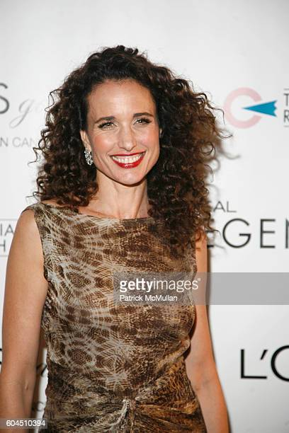 Andie MacDowell attends L'OREAL Legends Gala Benefiting The Ovarian Cancer Research Fund at The American Museum Of Natural History on November 8 2006