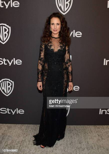 Andie MacDowell attends the 2019 InStyle and Warner Bros 76th Annual Golden Globe Awards PostParty at The Beverly Hilton Hotel on January 6 2019 in...
