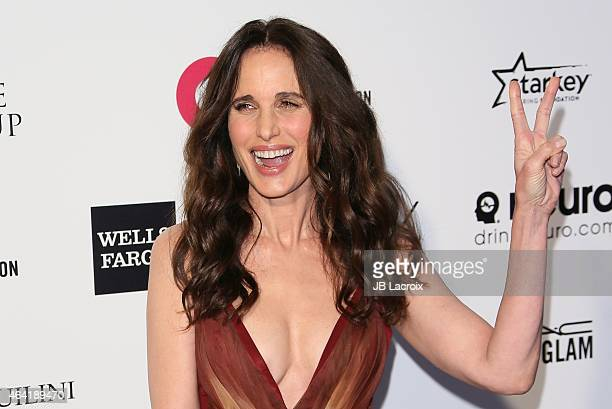 Andie MacDowell attends the 23rd Annual Elton John AIDS Foundation Academy Awards Viewing Party on February 22 2015 in West Hollywood California