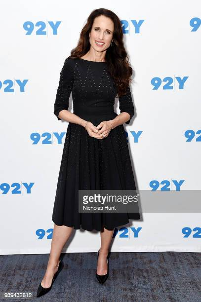 Andie MacDowell attends the 92nd Street Y Presents Andie MacDowell In Conversation at 92nd Street Y on March 28 2018 in New York City