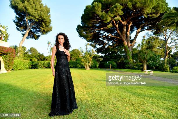 Andie MacDowell attends the amfAR Cannes Gala 2019 at Hotel du CapEdenRoc on May 23 2019 in Cap d'Antibes France