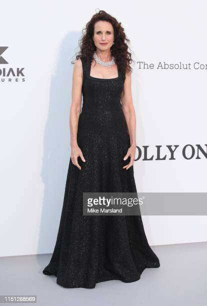 Andie MacDowell attends the amfAR Cannes Gala 2019 at Hotel du Cap-Eden-Roc on May 23, 2019 in Cap d'Antibes, France.