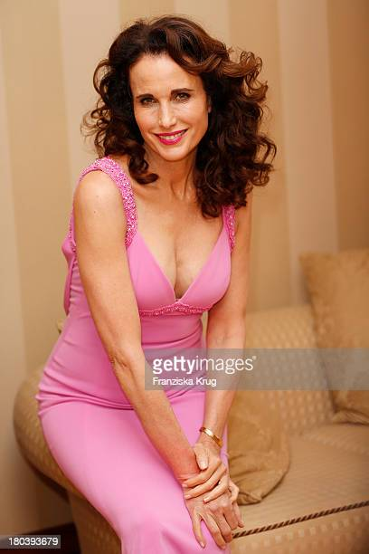 Andie MacDowell attends the Dreamball 2013 charity gala at Ritz Carlton on September 12 2013 in Berlin Germany