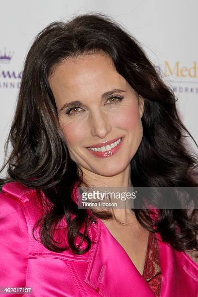 Andie MacDowell attends the Hallmark Channel Hallmark Movie Channel TCA event at The Huntington Library and Gardens on January 11 2014 in San Marino...