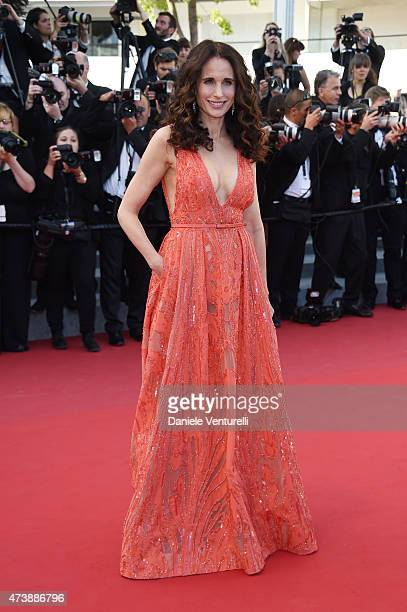 Andie MacDowell attends the 'Inside Out' Premiere during the 68th annual Cannes Film Festival on May 18 2015 in Cannes France