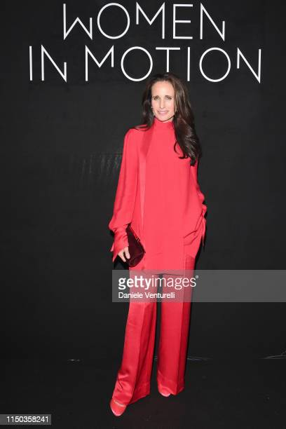 Andie MacDowell attends the Kering and Cannes Film Festival Official Dinner at Place de la Castre on May 19 2019 in Cannes France