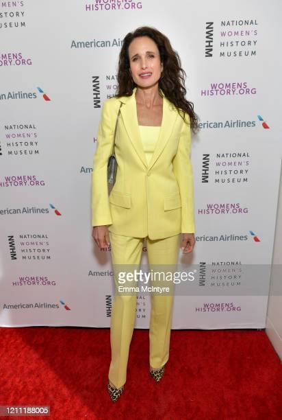 Andie MacDowell attends the National Women's History Museum's 8th Annual Women Making History Awardsat Skirball Cultural Center on March 08, 2020 in...
