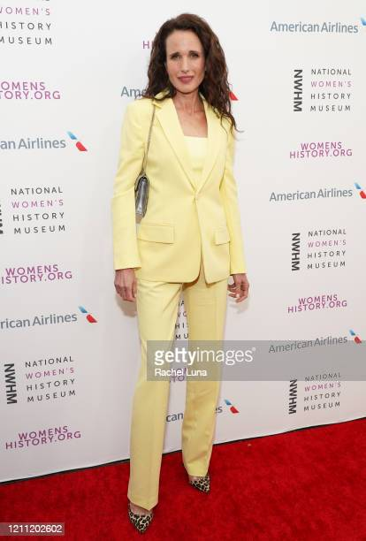 Andie MacDowell attends the National Women's History Museum's 8th Annual Women Making History Awards at Skirball Cultural Center on March 08, 2020 in...