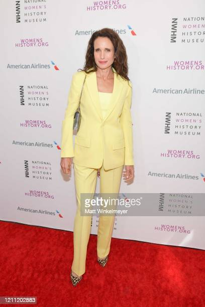 Andie MacDowell attends the National Women's History Museum's 8th annual Women Making History Awards at Skirball Cultural Center on March 08 2020 in...