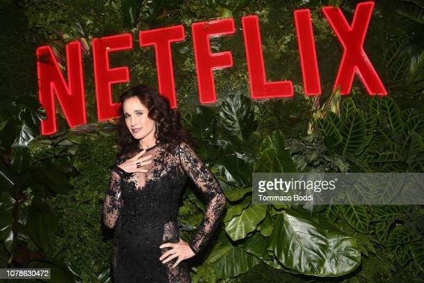 Andie MacDowell attends the Netflix 2019 Golden Globes After Party on January 6 2019 in Los Angeles California