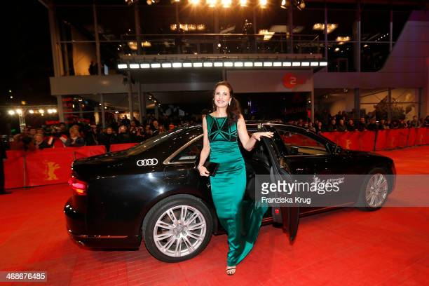 Andie MacDowell attends the 'Praia do futuro' premiere during 64th Berlinale International Film Festival at Berlinale Palast on February 11 2014 in...