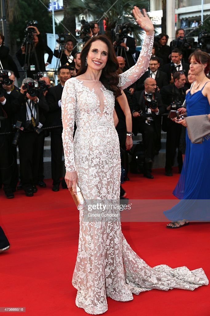 Andie MacDowell attends the Premiere of 'The Sea Of Trees' during the 68th annual Cannes Film Festival on May 16, 2015 in Cannes, France.