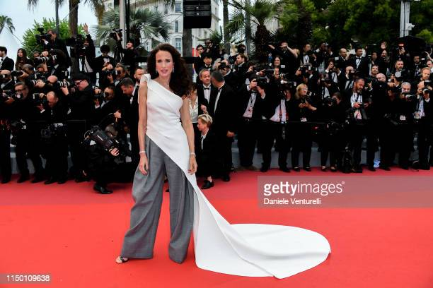 Andie MacDowell attends the screening of Les Plus Belles Annees D'Une Vie during the 72nd annual Cannes Film Festival on May 18 2019 in Cannes France
