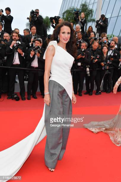 """Andie MacDowell attends the screening of """"Les Plus Belles Annees D'Une Vie"""" during the 72nd annual Cannes Film Festival on May 18, 2019 in Cannes,..."""
