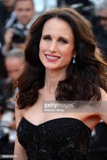 Andie MacDowell attends the The Killing Of A Sacred Deer screening during the 70th annual Cannes Film Festival at Palais des Festivals on May 22 2017...