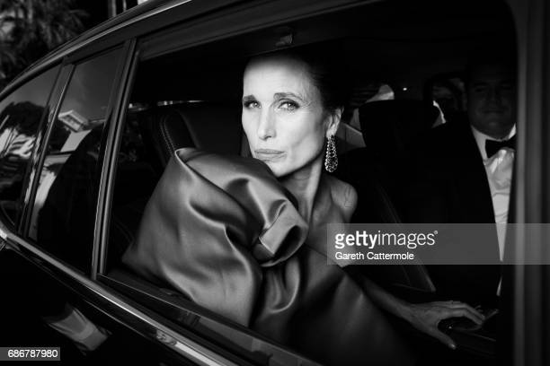 Andie MacDowell departs the Martinez Hotel on May 21 2017 in Cannes France