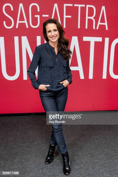 Andie MacDowell discusses Love After Love durig SAGAFTRA Foundation conversations at The Robin Williams Center on March 29 2018 in New York City