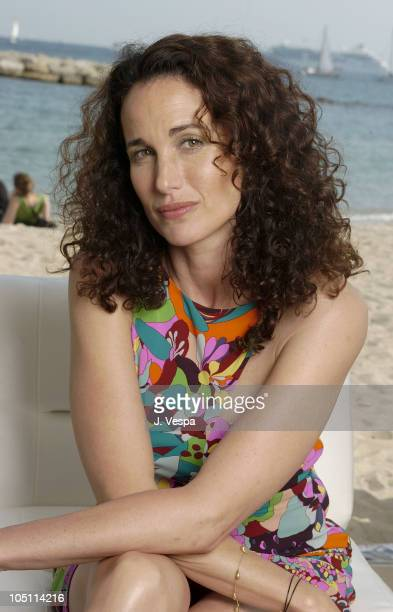 Andie MacDowell during 2003 Cannes Film Festival Andie MacDowell Portraits at American Pavillion Photo Studio in Cannes France