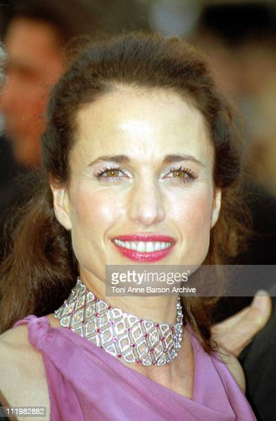 Andie MacDowell during 53rd Cannes Film Festival The Red Carpet at Palais des Festivals in Cannes France