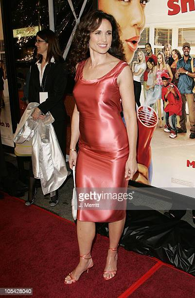 Andie MacDowell during 'Beauty Shop' World Premiere at Grauman's Chinese Theatre in Hollywood California United States