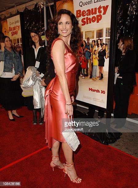 Andie MacDowell during Beauty Shop World Premiere at Grauman's Chinese Theatre in Hollywood California United States