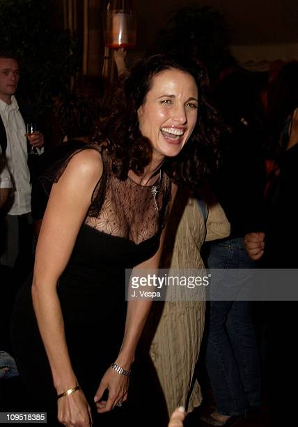 """Andie MacDowell during Cannes 2002 - Director's Fortnight Closing Night - """"Welcome to Collinwood"""" Premiere and Party at Noga Hilton in Cannes, France."""