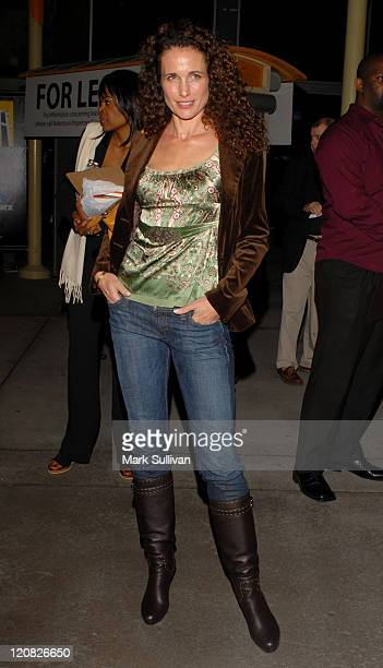 Andie MacDowell during 'Catch A Fire' Premiere Arrivals at Arclight Cinemas in Hollywood California United States