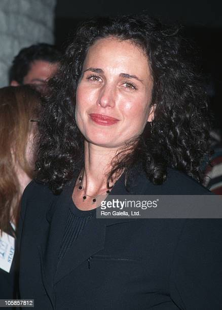 Andie MacDowell during 'Desperado' Los Angeles Premiere at Mann's National Theater in Westwood California United States