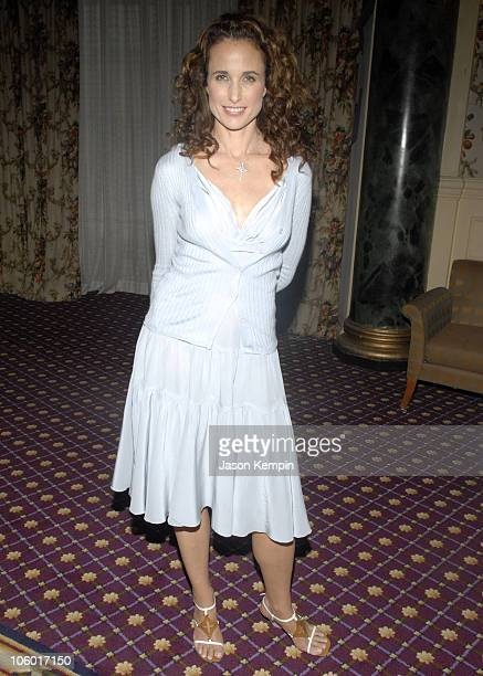 Andie MacDowell during First Annual Ladies' Home Journal Health Breakthrough Awards August 2 2006 at The Roosevelt Hotel in New York City New York...