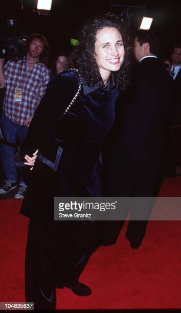 Andie MacDowell during 'Get Shorty' Hollywood Premiere at Mann Chinese Theatre in Hollywood California United States