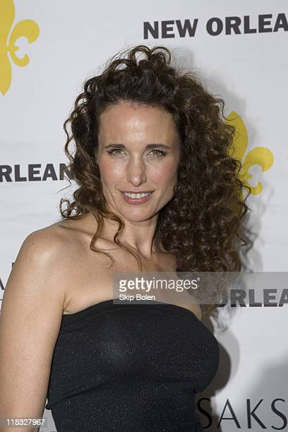 Andie MacDowell during Saks Fifth Avenue Grand Re Opening of the New Orleans Store Charity Gala and Fashion Show November 15 2006 at Saks Fifth...