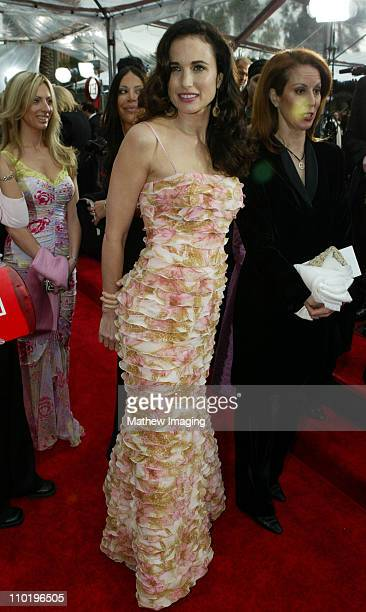 Andie MacDowell during The 10th Annual Screen Actors Guild Awards Red Carpet Arrivals at The Shrine Auditorium in Los Angeles California United States