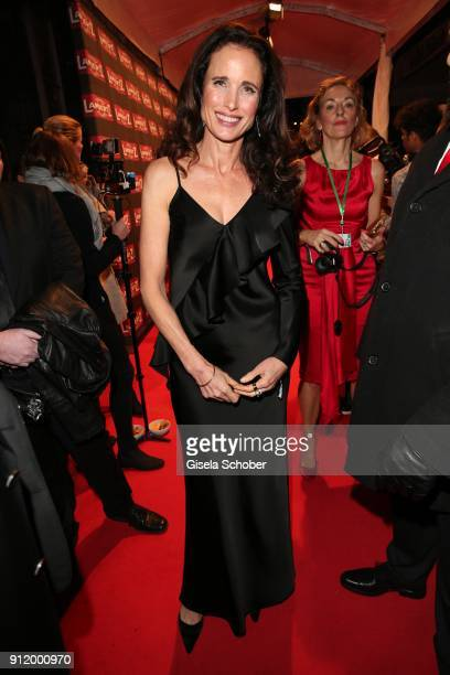 Andie MacDowell during the 20th Lambertz Monday Night 2018 at Alter Wartesaal on January 29 2018 in Cologne Germany